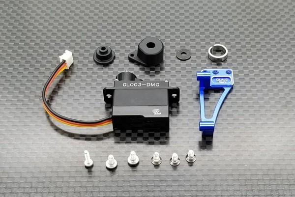 GL-Racing | Alu.7075 Servo Mount Combo Set For GLA V2 | GLA-V2-040 | Mini-z