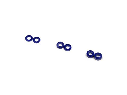 GL-Racing |SHM-003 | 2 x 4 Alum. coller set (0.5/1.0/1.5mm) BLUE | Ersatzteile