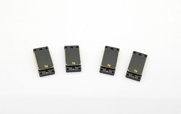 Brass Left/Right plates - (2.0g x 4pcs)