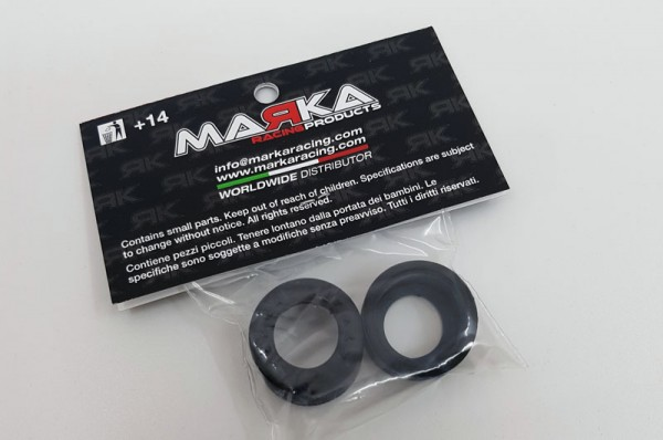 Marka V9 Mini-Z F1 RCP Rubber Rear Tire 10° - GLF (1 Pair) (MZR-V9R10-F1-GL)