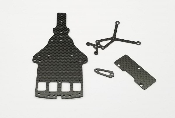 GL-Racing |GLF-S-032| GLF |GLF-1 CARBON MAIN CHASSIS,UPPER DESK &CROSS BRACE| Zubehör