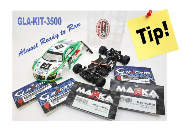 GL-Racing | KIT-GLA-V2.1-98MM-3500 | Chassis | GLA-V2 1/27 4WD Chassis[98MM]