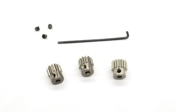 Alu hard coated 64 pitch pinion set (12,13 & 14T included)