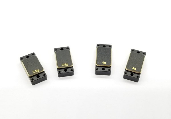 Brass Left/Right plates - (3.5gx2pcs & 4.0gx2pcs)