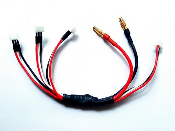 3x JST-PH Parallel charging cable