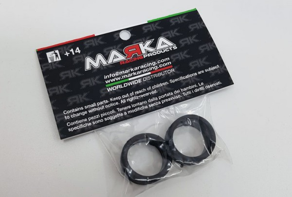 Marka V5 Mini-Z RCP Rubber Rear Tire 10° (1 Pair) (MZR-V5R10)