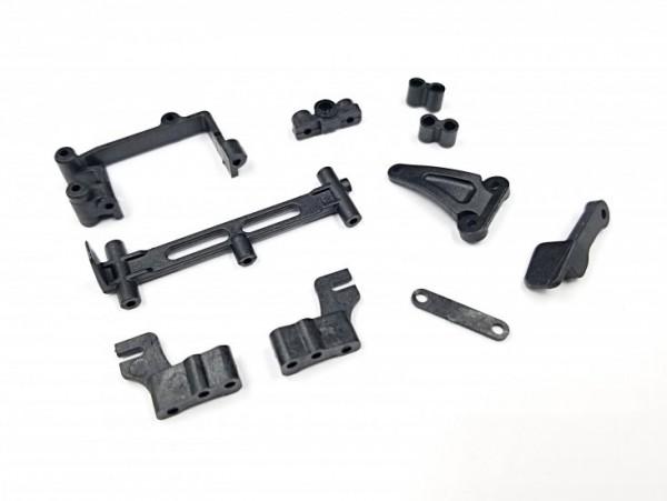 GL-Racing | GLR-S001 | GLR Batteries mount, L Clip, servo mount | Ersatzteile