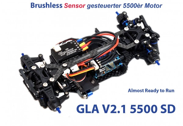 GL-Racing | GLA-V2.1-98MM-RTR-5500SD | Chassis | GLA-V2 1/27 4WD Chassis[98MM]